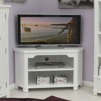 info for cff35 0745d Modern White Corner TV Unit for Large Television up to 46