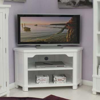 modern white corner tv unit for large television up to 46 corner tv unit wooden glass tv. Black Bedroom Furniture Sets. Home Design Ideas