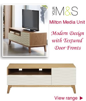M&S media Units Light Wood TV Units