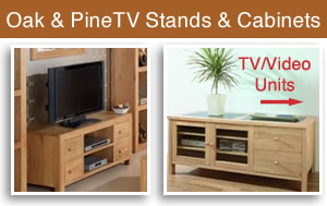 Light Oak Pine Media Units