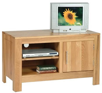 Modern Oak TV Cabinets with Storage Shelves and Cupboard