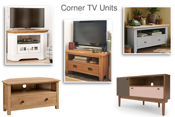 Light Dark Wood White Large Small and Curved Corner TV Units