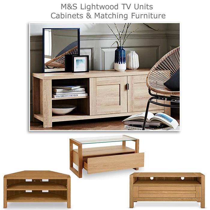 M&S Lightwood TV Units and Oak Media Cabinets